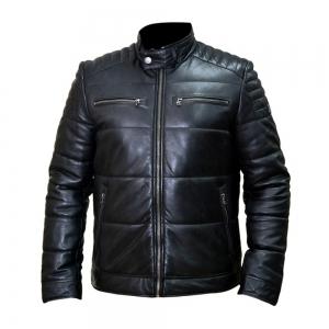 Mens Fashion Leather Jackets-HL-10088